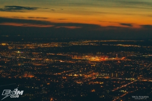 Вечерний полет на вертолете