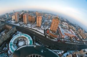 Зимний полет на вертолете